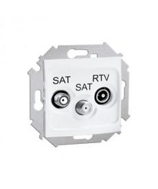 Gniazdo sat-sat rtv biały 1591038-030 simon15 kontakt
