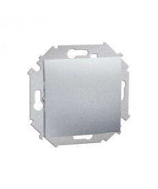 Łącznik jednobiegunowy 16ax 250v alu 1591101-026 simon15 kontakt