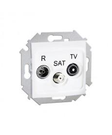 Gniazdo antenowe końcowe rtv-sat biały 1591466-030 simon15 kontakt