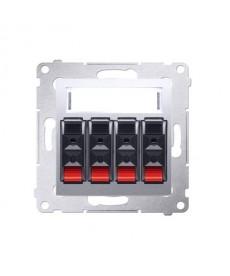 Gn. Głośnikowe 4-kr. Srebrny mat dgl34.01/43 simon54 premium kontakt