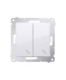 Premium 54 schodowybiały 10a (moduł)kontakt-simon dw6/2.01/11