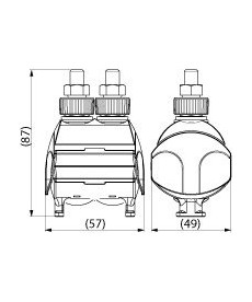 ZACISK (16-150AL/CU/16-95-120AL/CU) SLIP 32.21 (1XPRZEBIJAJĄCY) ENSTO