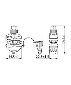 ZACISK DWUSTR. AL/CU16-120/6-50 SLIW54 ENSTO
