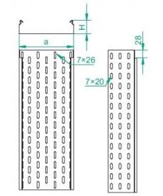 KORYTKO KABLOWE KCJ 100H100/3M GR.1,0MM, BAKS 110410