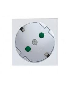 OSPEL45 Gniazdo pojedyncze z uziemieniem schuko z przesłonami torów prądowych Ref_GK-1SP/46