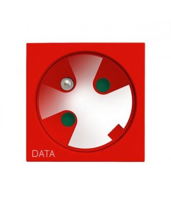 OSPEL45 Gniazdo pojedyncze z uziemieniem DATA z kluczem uprawniającym Ref_GK-1ZK/22