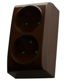 BIS Gniazdo podwójne z przesłonami torów prądowych Ref_GN-2BP/24