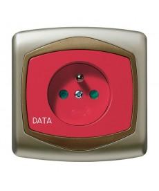 TON Gniazdo pojedyncze z uziemieniem DATA z przesłonami torów prądowych Ref_GP-1CZDP/16/20