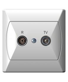 AKCENT Gniazdo RTV przelotowe 10-dB Ref_GPA-10AP/00