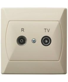 AKCENT Gniazdo RTV przelotowe 10-dB Ref_GPA-10AP/01