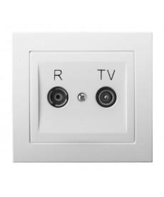 KIER Gniazdo RTV przelotowe 10-dB Ref_GPA-10WP/00