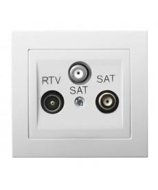 KIER Gniazdo RTV-SAT z dwoma wyjściami SAT Ref_GPA-W2S/00