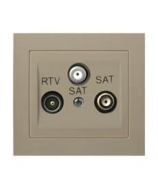 KIER Gniazdo RTV-SAT z dwoma wyjściami SAT Ref_GPA-W2S/01