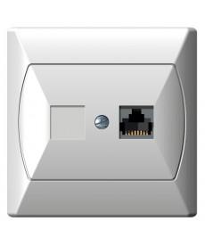 AKCENT Gniazdo komputerowe pojedyncze, kat. 5e MMC Ref_GPK-1A/K/00