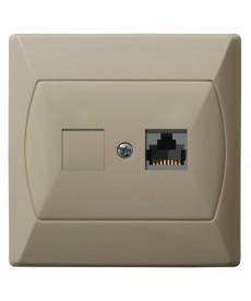 AKCENT Gniazdo komputerowe podwójne, kat. 5e FOREX Ref_GPK-2A/F/01