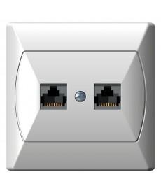 AKCENT Gniazdo komputerowe podwójne, kat. 5e MMC Ref_GPK-2A/K/00