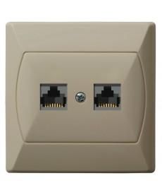 AKCENT Gniazdo komputerowe podwójne, kat. 5e MMC Ref_GPK-2A/K/01