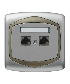 TON Gniazdo komputerowe podwójne, kat. 5e FOREX Ref_GPK-2C/F/18/16