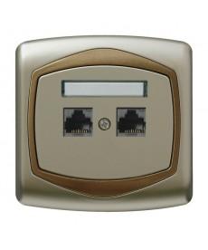 TON Gniazdo komputerowe podwójne, kat. 5e MMC Ref_GPK-2C/K/16/20
