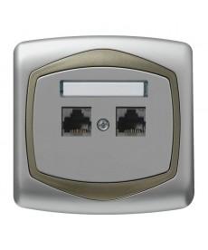 TON Gniazdo komputerowe podwójne, kat. 5e MMC Ref_GPK-2C/K/18/16