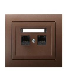 KIER Gniazdo komputerowe podwójne, kat. 6 MMC Ref_GPK-2W/K6/52