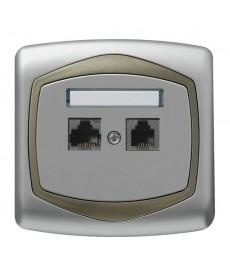 TON Gniazdo komputerowo-telefoniczne RJ 45 kat. 5e, (8-stykowe) + RJ 11 (4-stykowe) Ref_GPKT-C/F/18/16