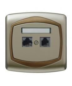 TON Gniazdo komputerowo-telefoniczne RJ 45 kat. 5e, (8-stykowe) + RJ 11 (6-stykowe) Ref_GPKT-C/K/16/20