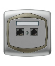 TON Gniazdo komputerowo-telefoniczne RJ 45 kat. 5e, (8-stykowe) + RJ 11 (6-stykowe) Ref_GPKT-C/K/18/16