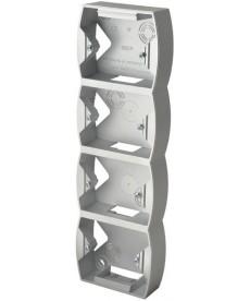 Puszka instalacyjna do serii GAZELA poczwórna pionowa Ref_PNP-4JV/18