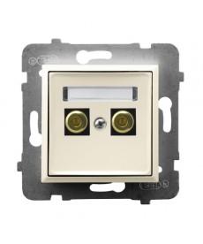 ARIA Gniazdo głośnikowe pojedyncze Ref_GGN-1U/m/27