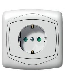 TON COLOR SYSTEM Gniazdo pojedyncze z uziemieniem schuko z przesłonami torów prądowych Ref_GP-1CSP/m/00