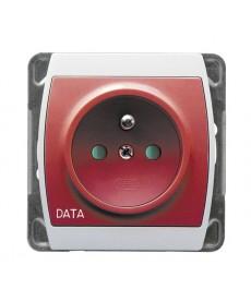 GAZELA Gniazdo pojedyncze z uziemieniem DATA z przesłonami torów prądowych Ref_GP-1JZDP/m/00