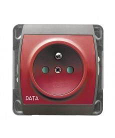 GAZELA Gniazdo pojedyncze z uziemieniem DATA z przesłonami torów prądowych Ref_GP-1JZDP/m/18/23