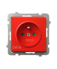 SONATA Gniazdo pojedyncze z uziemieniem DATA z przesłonami torów prądowych Ref_GP-1RZDP/m/00