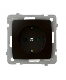 KARO Gniazdo pojedyncze z uziemieniem schuko z przesłonami torów prądowych Ref_GP-1SSP/m/40