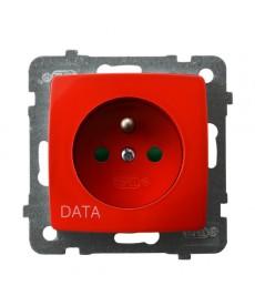 KARO Gniazdo pojedyncze z uziemieniem DATA z przesłonami torów prądowych Ref_GP-1SZDP/m/00