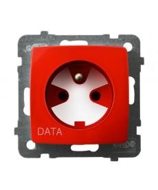KARO Gniazdo pojedyncze z uziemieniem DATA z kluczem uprawniającym Ref_GP-1SZK/m/00