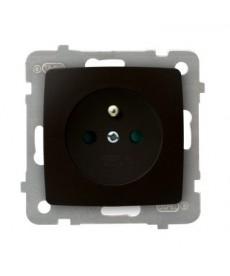 KARO Gniazdo pojedyncze z uziemieniem z przesłonami torów prądowych Ref_GP-1SZP/m/40