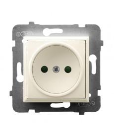 ARIA Gniazdo pojedyncze z przesłonami torów prądowych Ref_GP-1UP/m/27