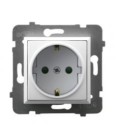 ARIA Gniazdo pojedyncze z uziemieniem schuko z przesłonami torów prądowych Ref_GP-1USP/m/00