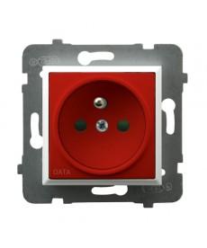 ARIA Gniazdo pojedyncze z uziemieniem DATA z przesłonami torów prądowych Ref_GP-1UZDP/m/00/22