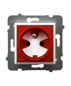 ARIA Gniazdo pojedyncze z uziemieniem DATA z kluczem uprawniającym Ref_GP-1UZK/m/00/22