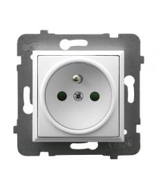 ARIA Gniazdo pojedyncze z uziemieniem z przesłonami torów prądowych Ref_GP-1UZP/m/00