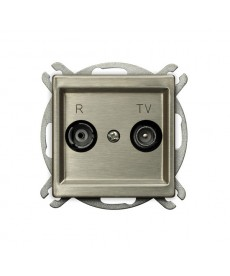 SONATA NOWE SREBRO Gniazdo RTV przelotowe 10-dB Ref_GPA-10RMP/m/44