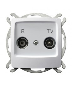 KARO Gniazdo RTV przelotowe 10-dB Ref_GPA-10SP/m/00