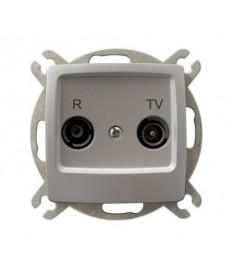 KARO Gniazdo RTV przelotowe 10-dB Ref_GPA-10SP/m/43