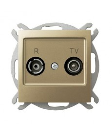 IMPRESJA Gniazdo RTV przelotowe 10-dB Ref_GPA-10YP/m/28