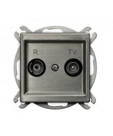 SONATA STAL INOX Gniazdo RTV przelotowe 14-dB Ref_GPA-14RMP/m/37