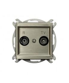 SONATA NOWE SREBRO Gniazdo RTV przelotowe 16-dB Ref_GPA-16RMP/m/44