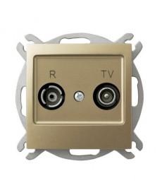 IMPRESJA Gniazdo RTV przelotowe 16-dB Ref_GPA-16YP/m/28